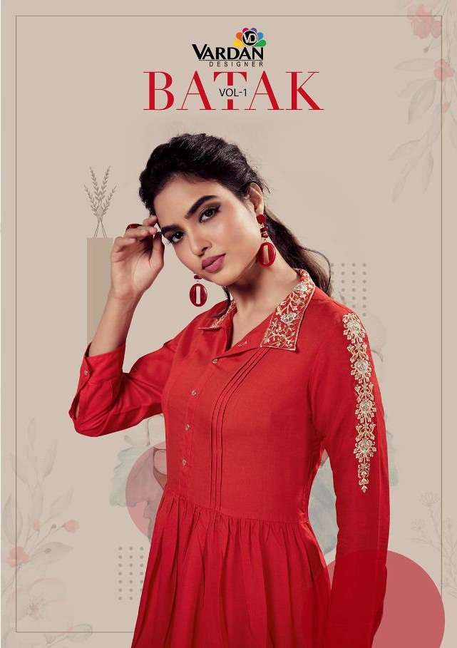 Vardan Designer Batak Vol 1 Rayon short Tops Collection