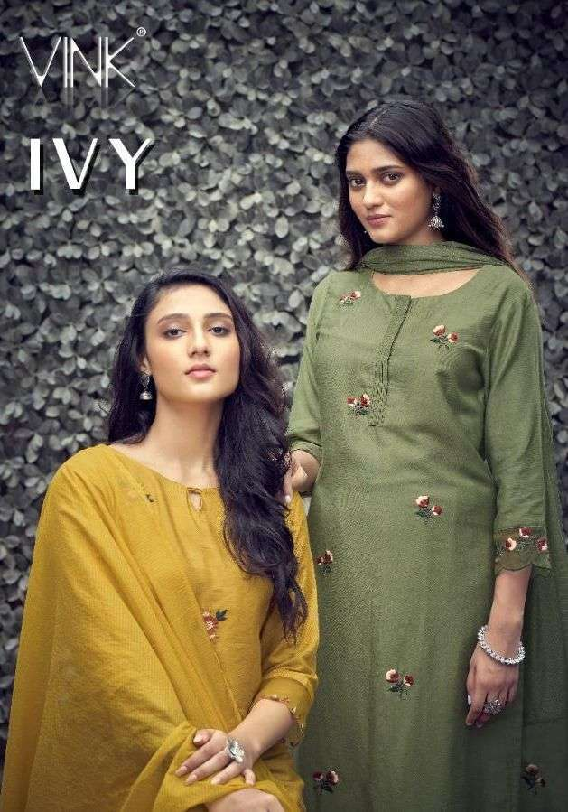 Vink IVY Pure Viscose With Fancy Work Kurti With Pant Dupatta Collection