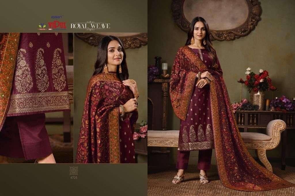 Vipul Royal Weave Silk Jacquard With Swarovski Work Salwar Kameez Collection 05