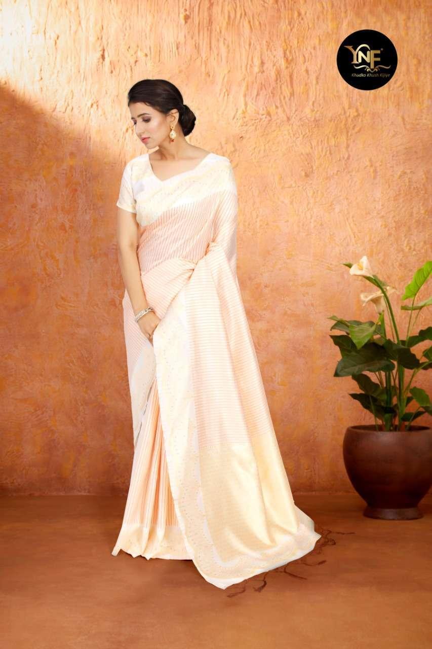 Ynf Tulsi Silk Art Silk Woven WHITE Sarees Collection 02