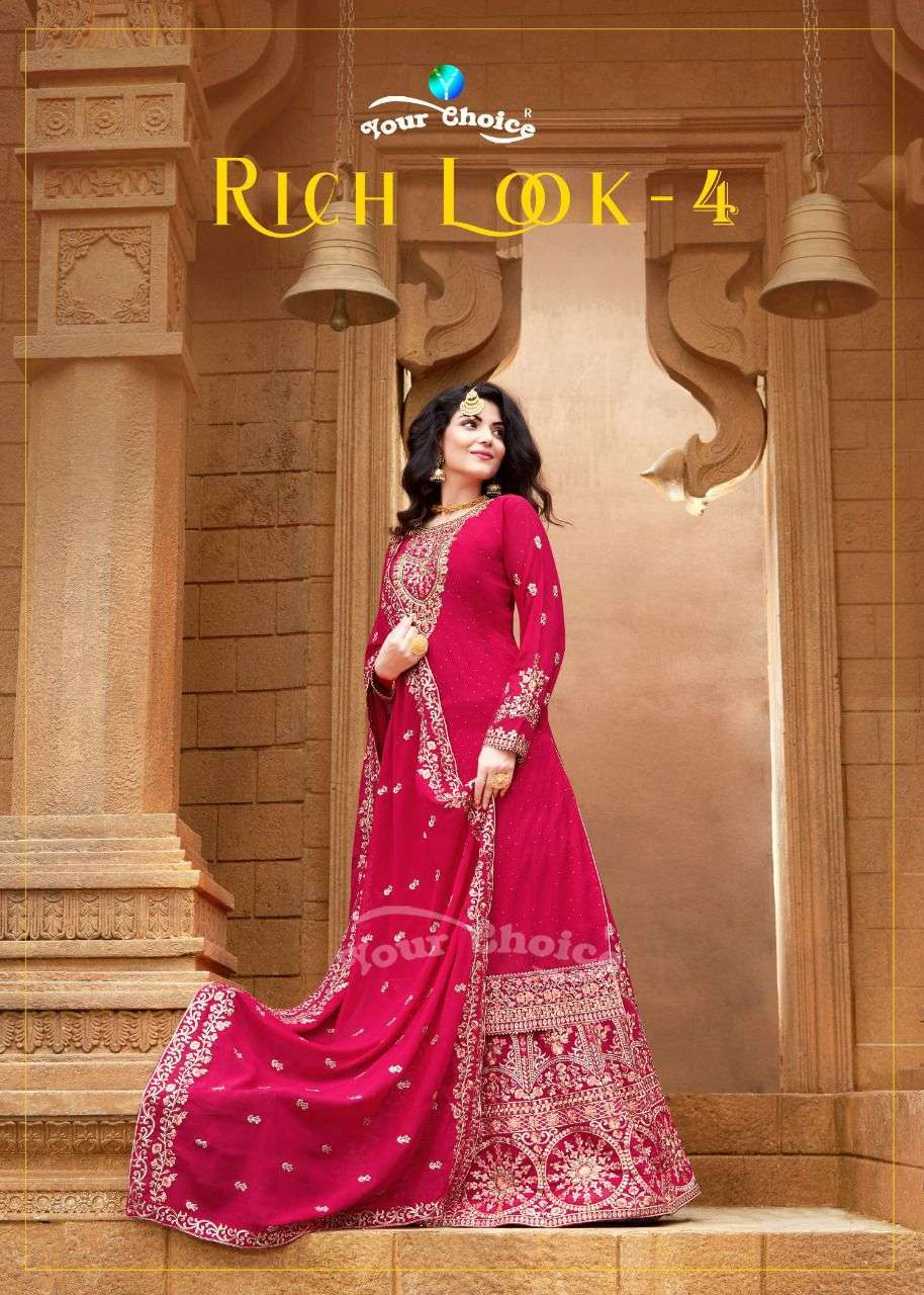 Your Choice Rich look Vol 4 Georgette With Embroidery Work Salwar Kameez Collection
