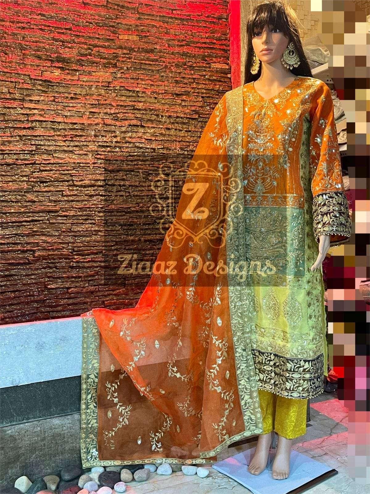 Ziaaz z series organza pakistani suit