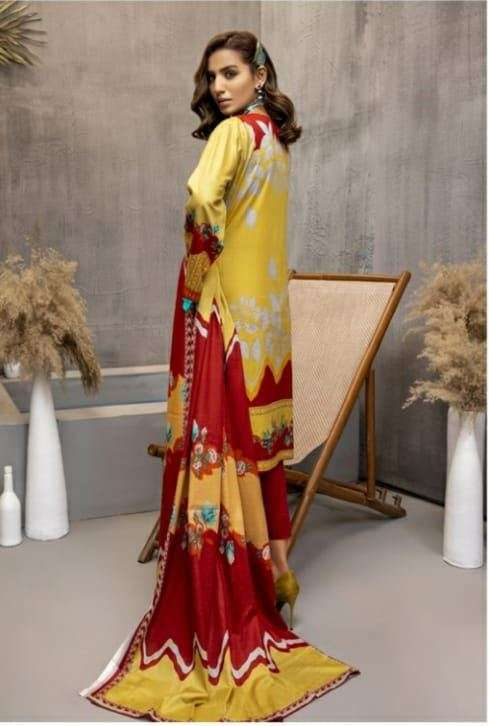 ZS textiles Subhata masakali Vol 2 Lawn Cotton Digital Print With Embroidery Work Pakistani Suits Collection
