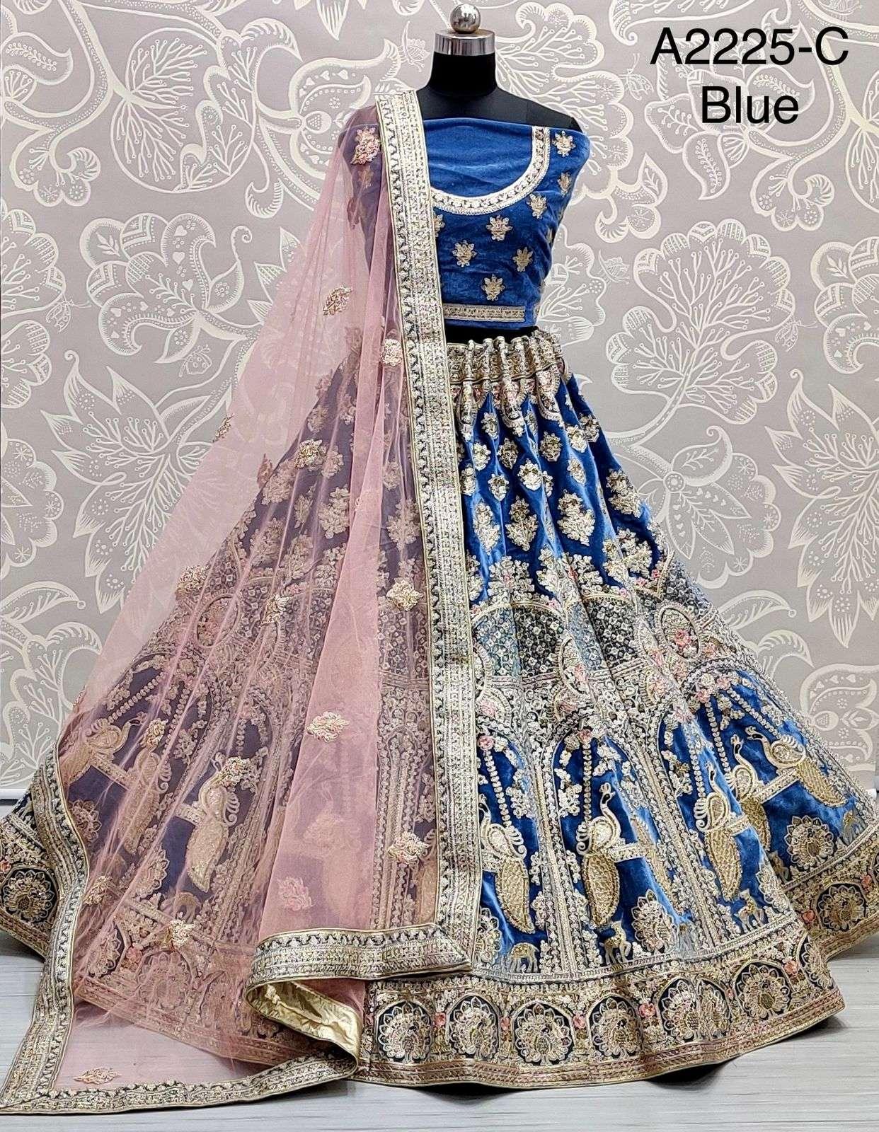 A2225 Designer lehenga choli bridal wear collection at wholesale rate