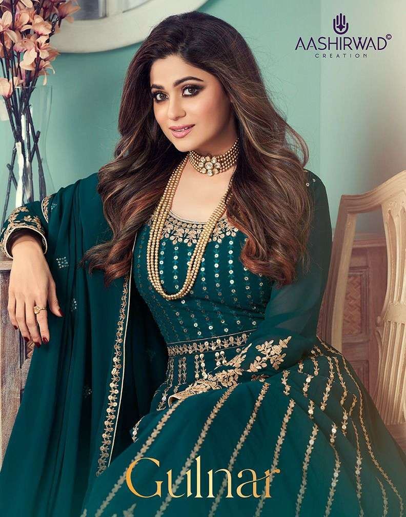Aashirwad Creation Gulnar Georgette With Embroidery Work Suits