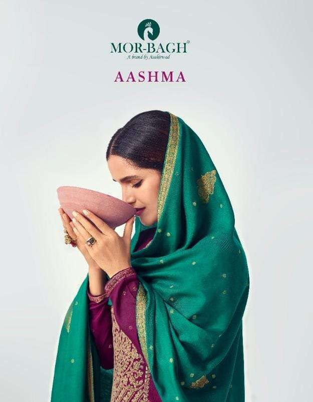 Aashirwad Creation Mor Bagh Aashma Viscose Silk With Work Dress Material Collection