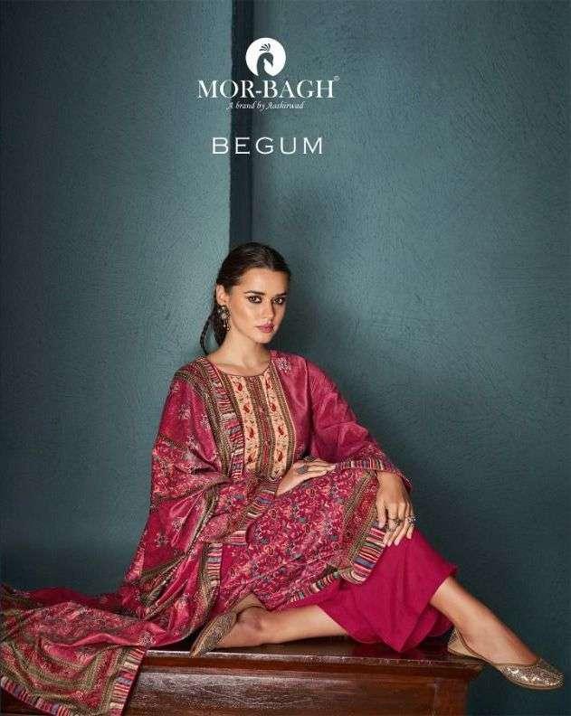 Aashirwad creation mor Bagh Begum Velvet Digital print Dress material Collection