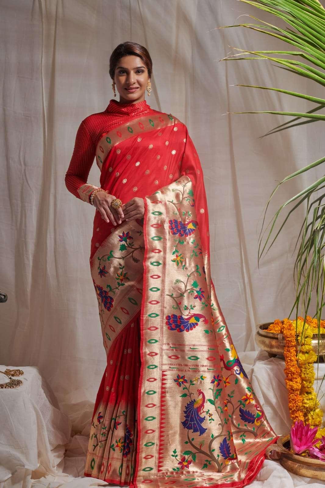 Alesa pure silk traditional paithani saree collection