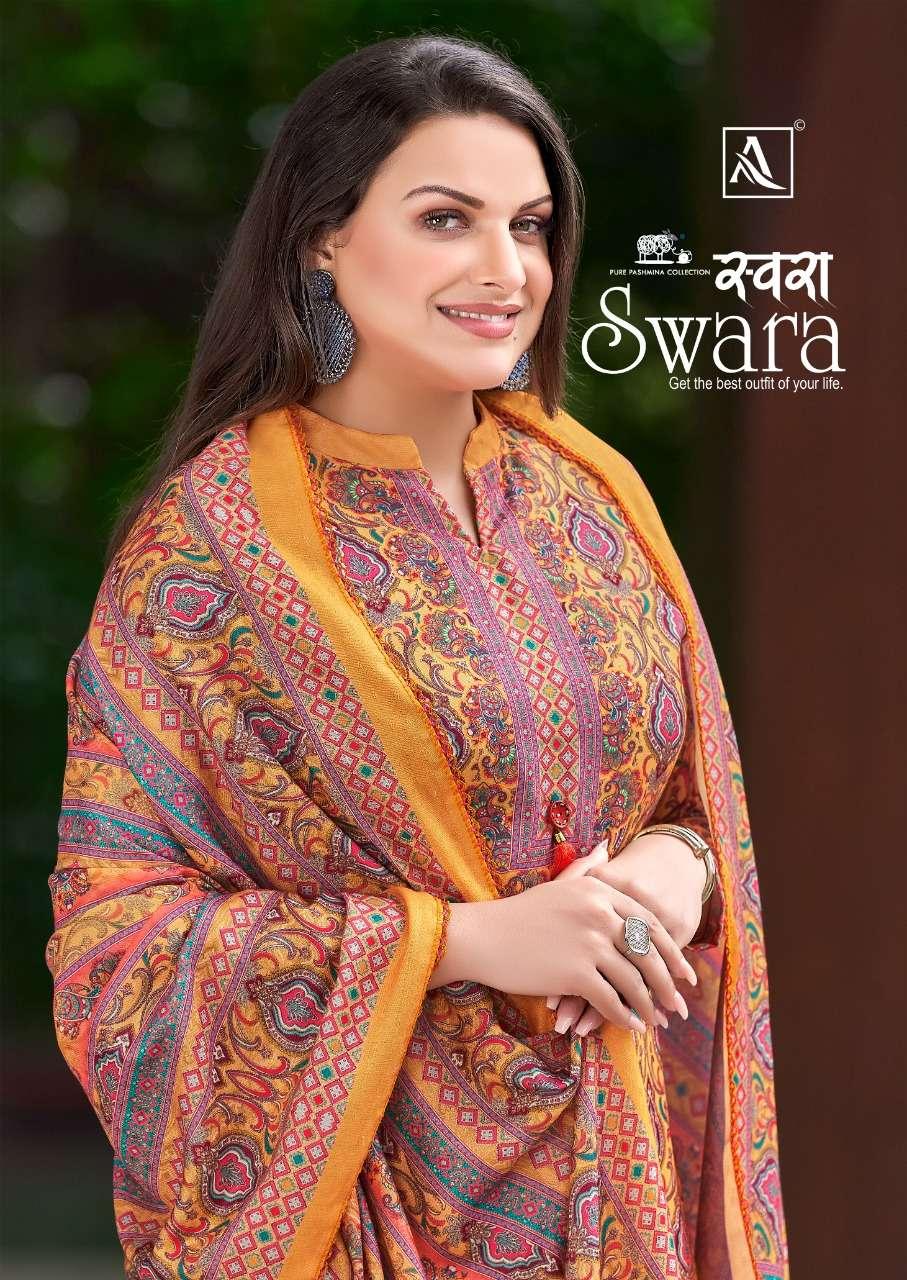 Alok Suits Swara Wool Pashmina Digital print Dress Material Collection