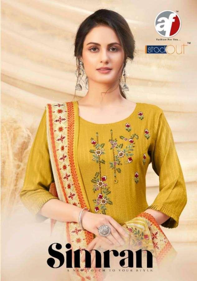 Anju Fabrics Simran Viscose rayon With Work Kurtis With Pant Dupatta Collection
