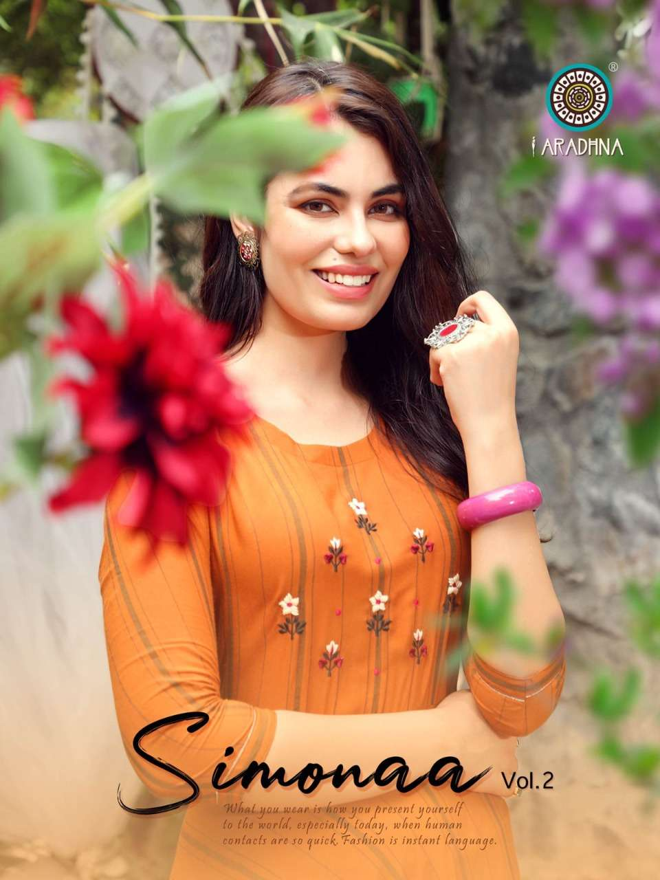 Aradhna Fashion Simonaa Vol 2 Rayon Long Anarakli Kurtis collection