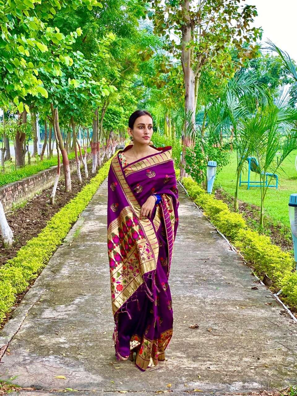 Art silk traditional Paithani saree collection