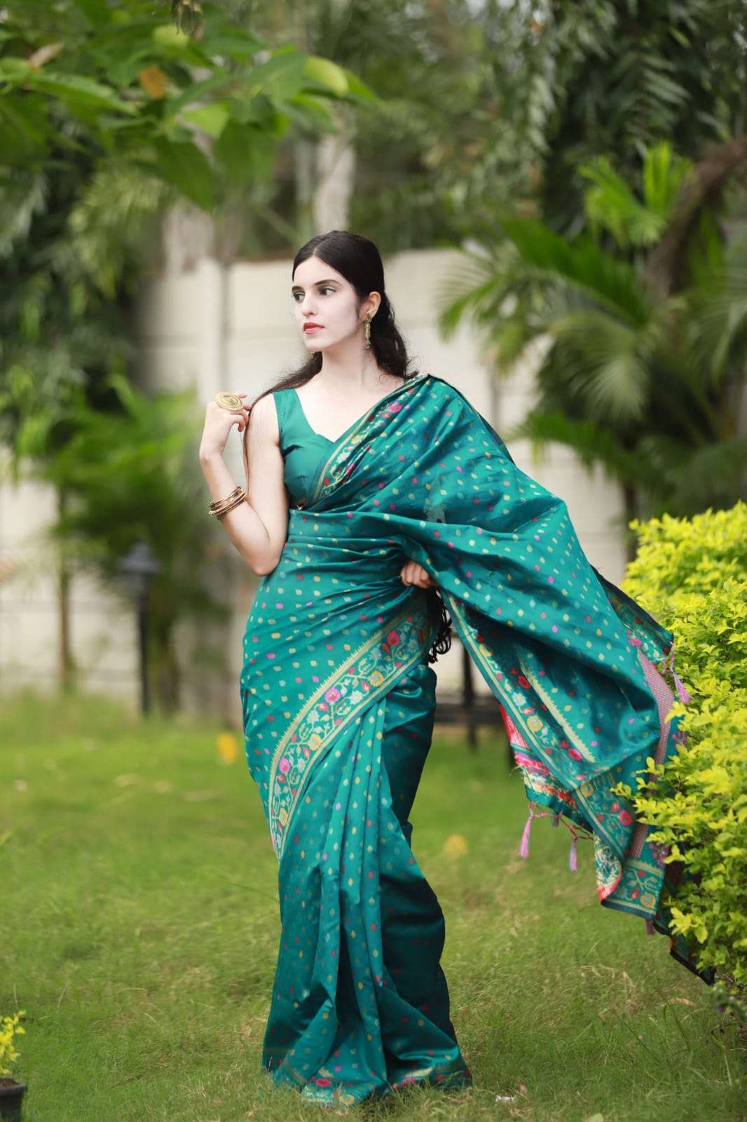 ART SILK WITH JAQURED WEAVING SAREE COLLECTION  17856