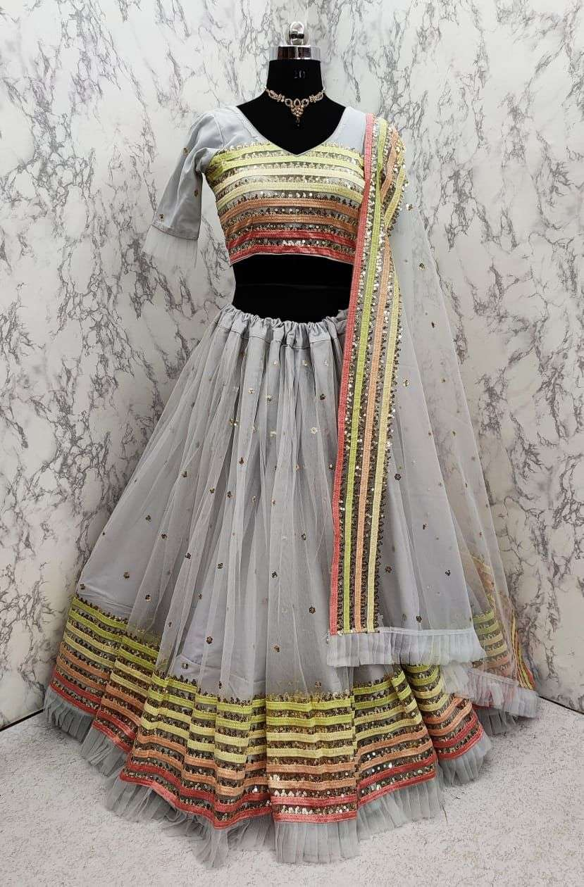 ARZOO SOFT NET WITH EMBROIDERY WORK LEHENGA CHOLI COLLECTION