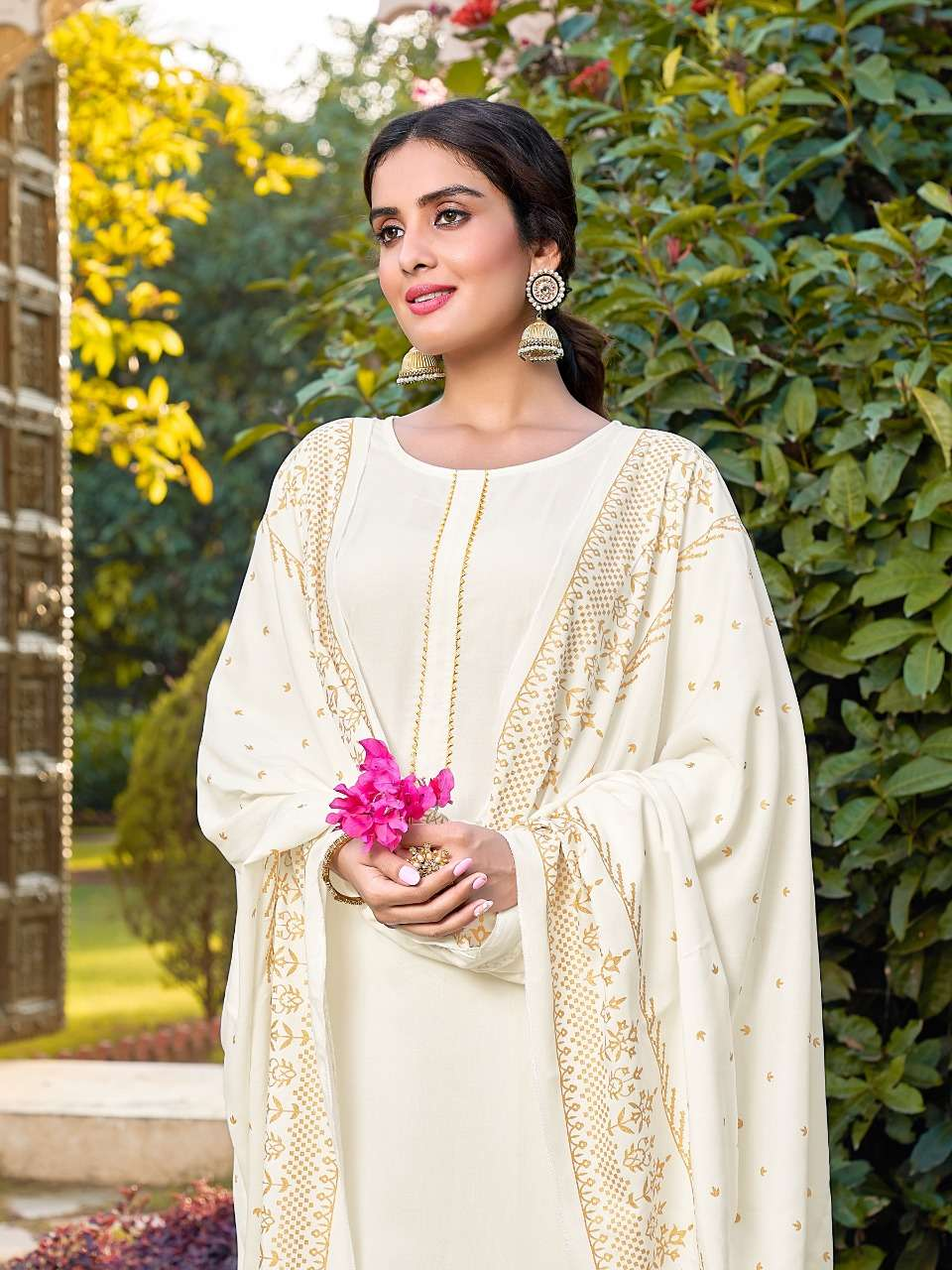 Banwery Panghat Rayon With Foil print readymade Suits Collection