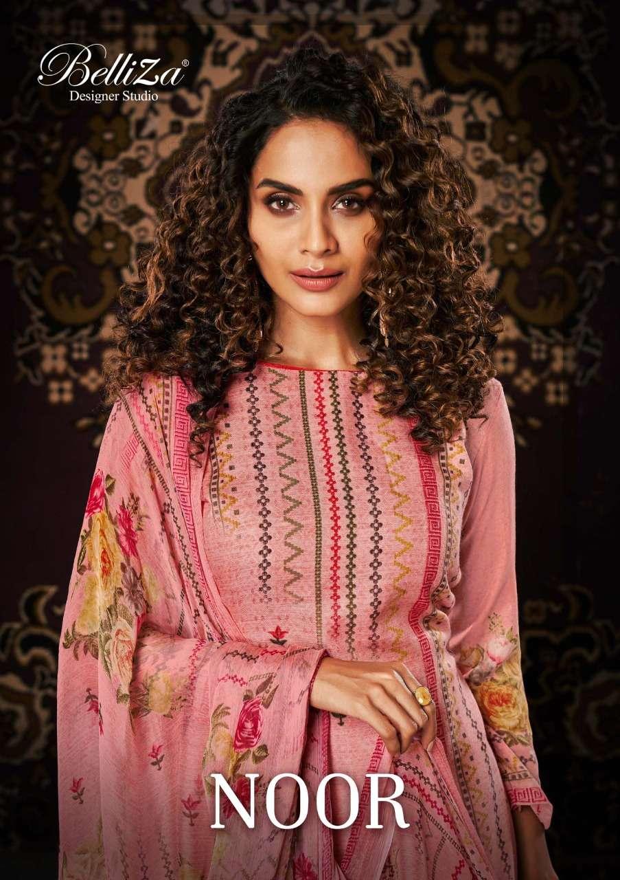 Belliza Designer Studio Noor Pashmina Digital print Winter Suits collection