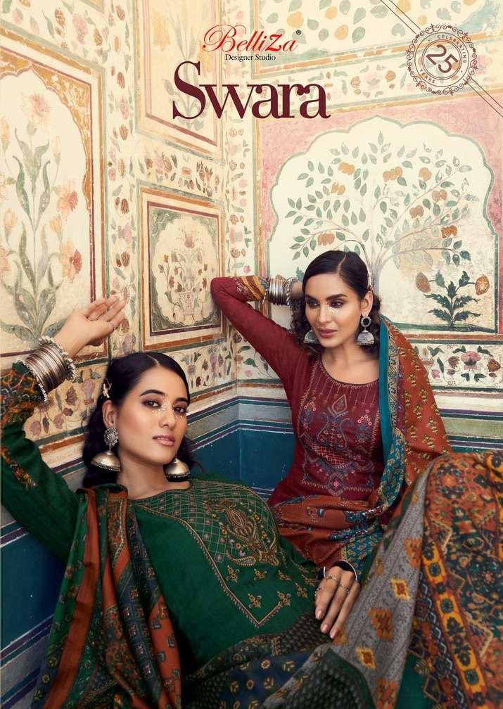 Belliza Designer Studio Swara Pashmina With Embroidery Work Dress Material Collection