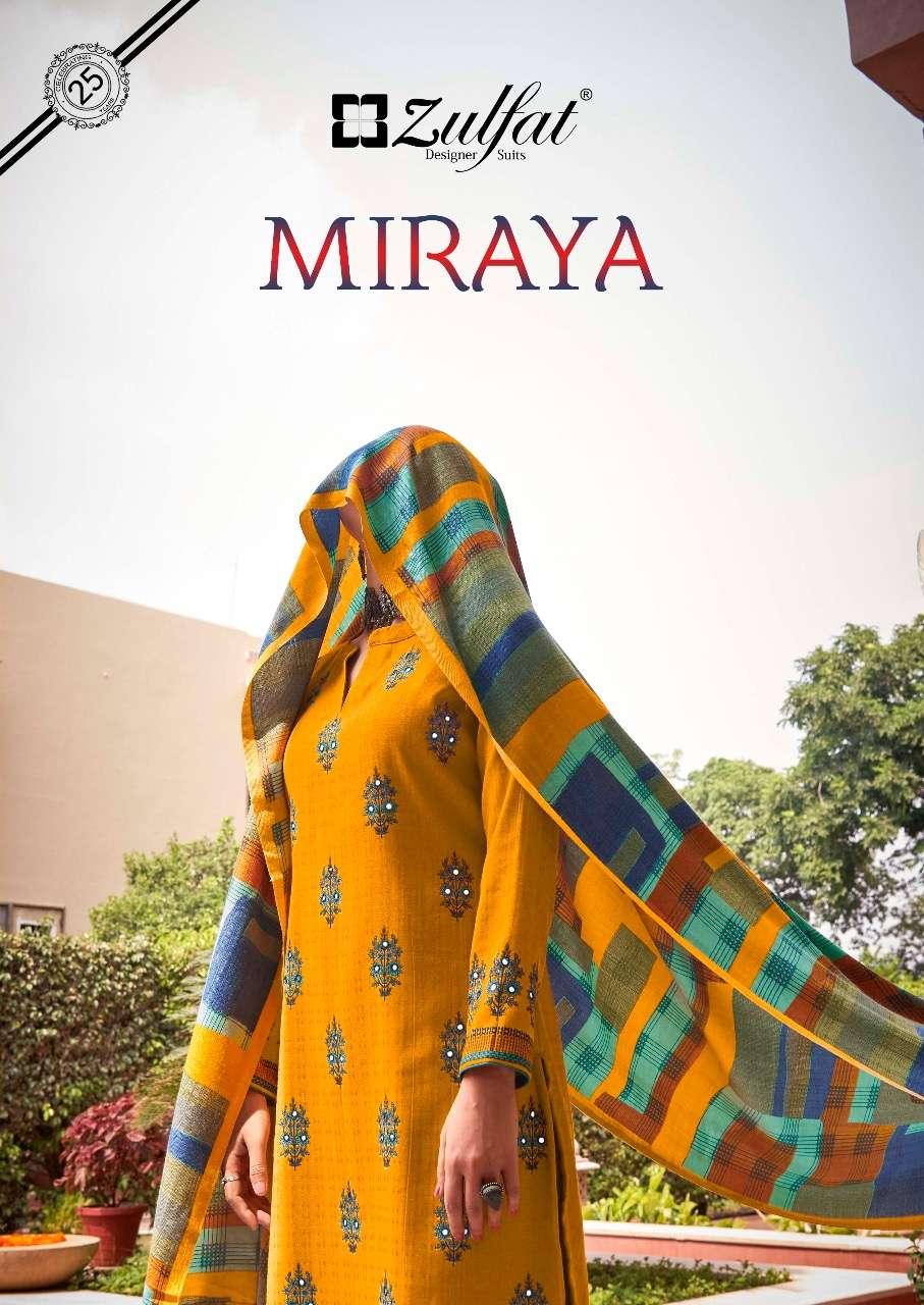 Belliza Designer Studio Zulfat Miraya Pashmina Digital Print With Mirror Work Dress material Collection