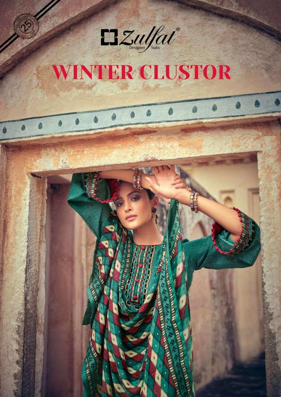 Belliza Designer Studio Zulfat Winter Clustor Pashmine Digital Print Winter Collection