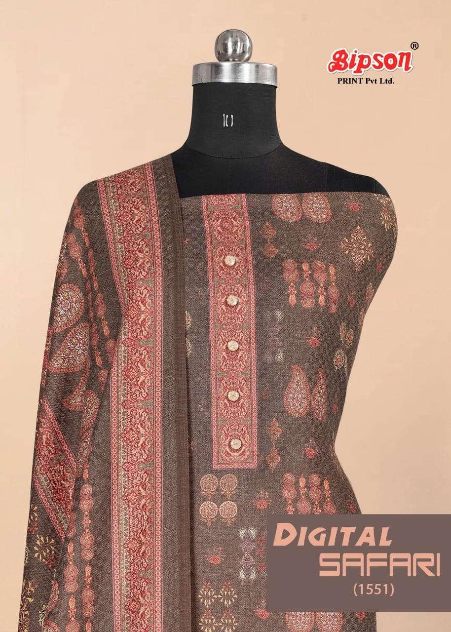 Bipson Digital Safari 1551 series Pashmina Digital print Winter collection