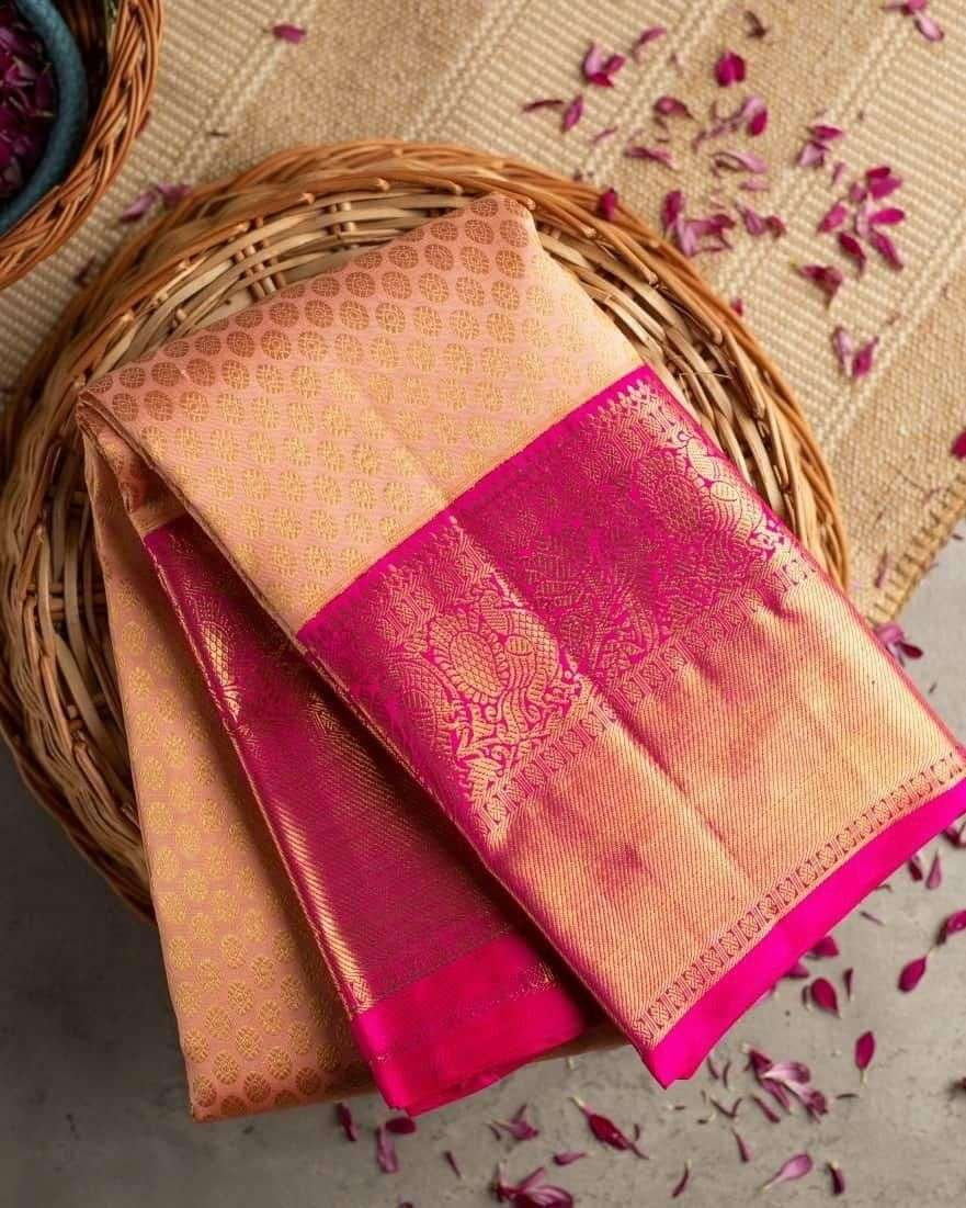 Bright Butti silk with weaving saree collection