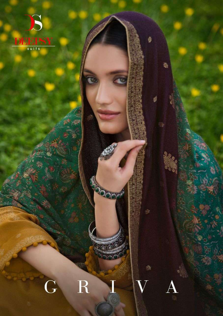 Deepsy Suits Griva Viscose pashmina Jacquard Suits Collection