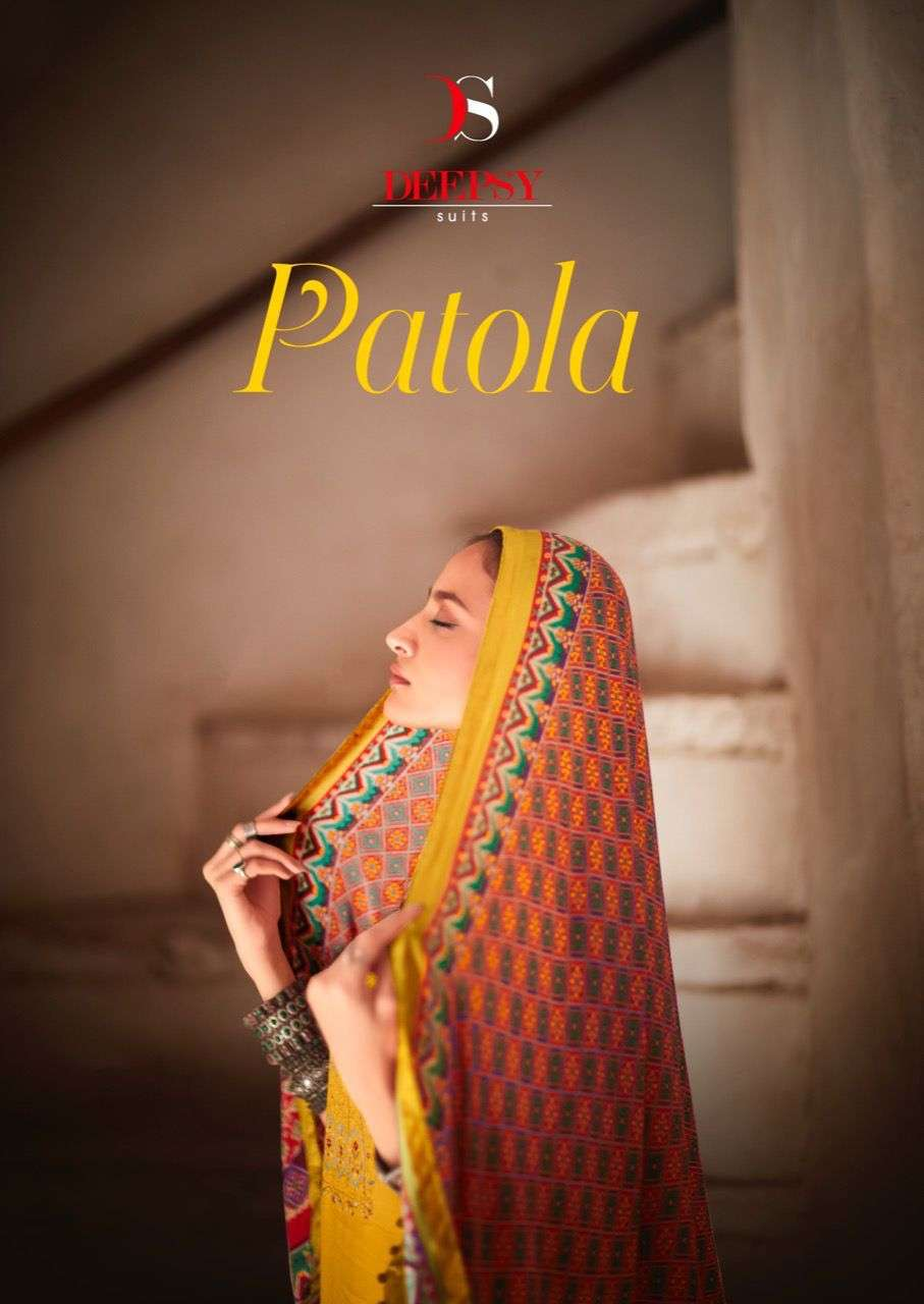Deepsy Suits patola Silk With Embroidery Work Dress Material collection