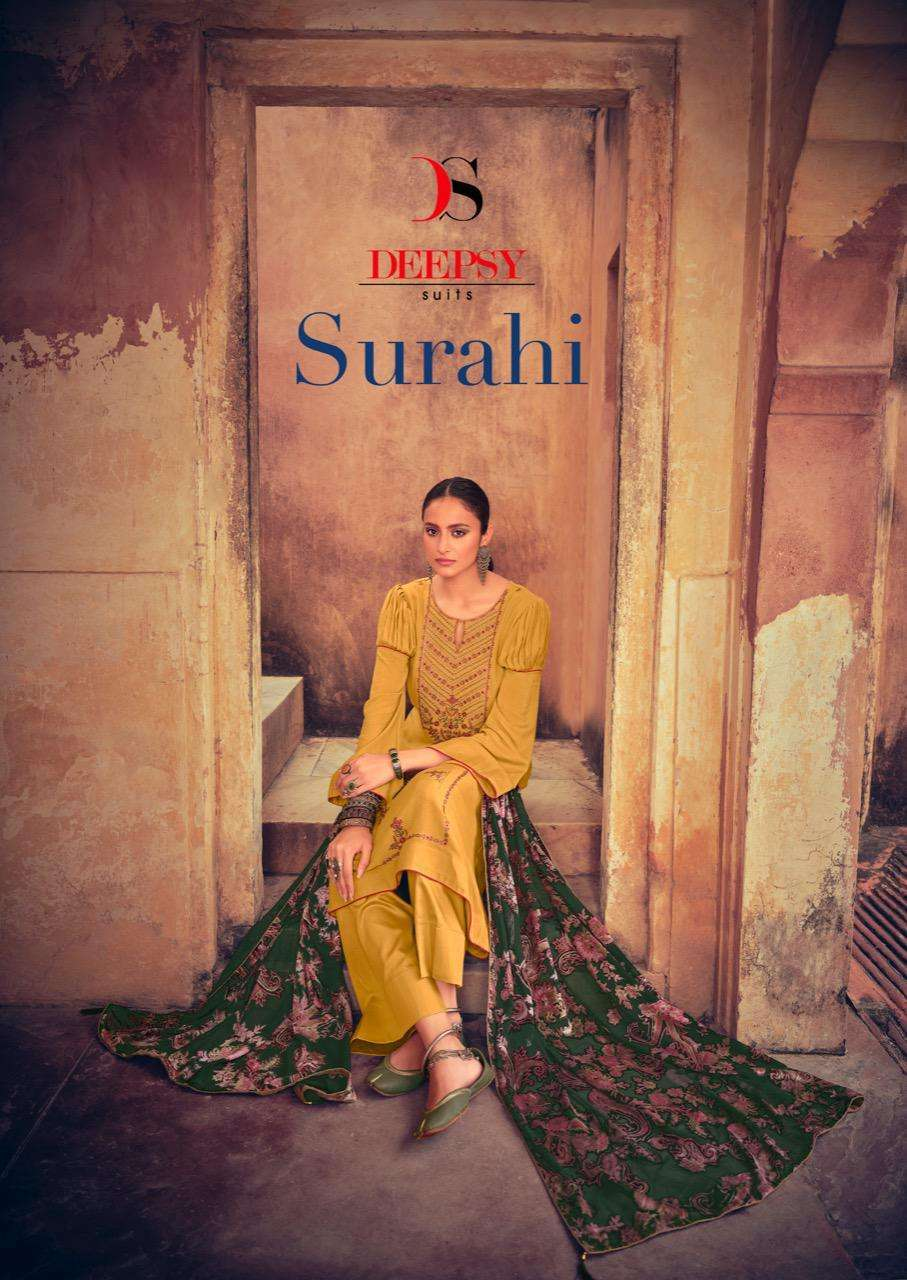 Deepsy Suits Surahi Viscose pashmina With embroidery Work winter Suits
