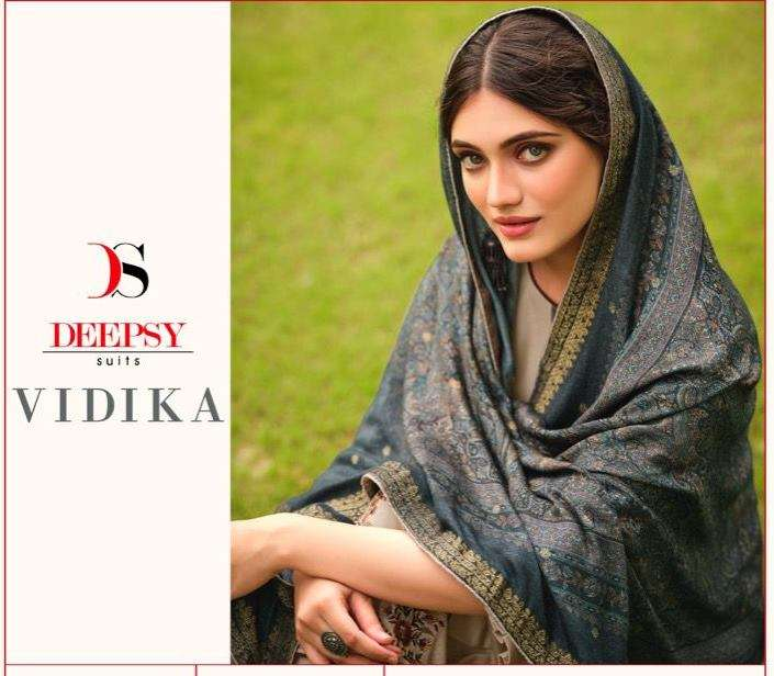 Deepsy suits Vidika Viscose Pashmina With Embroidery Work Winter Suits Collection