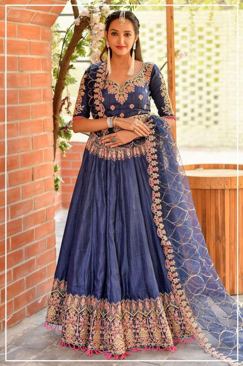 Designer chenni silk with thread work lehenga choli collection Pbc1002
