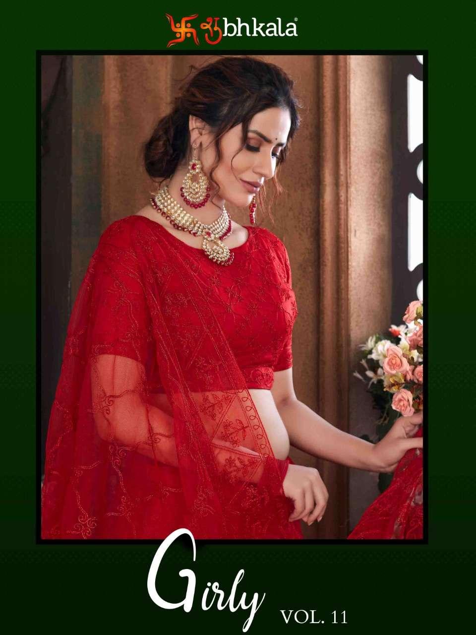 Girly vol 11  cotton with thread work designer lehenga choli collection