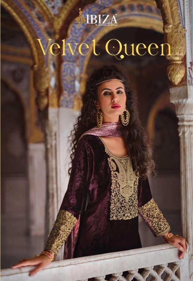 Ibiza Velvet Queen velvet Viscose With Work Dress Material Collection