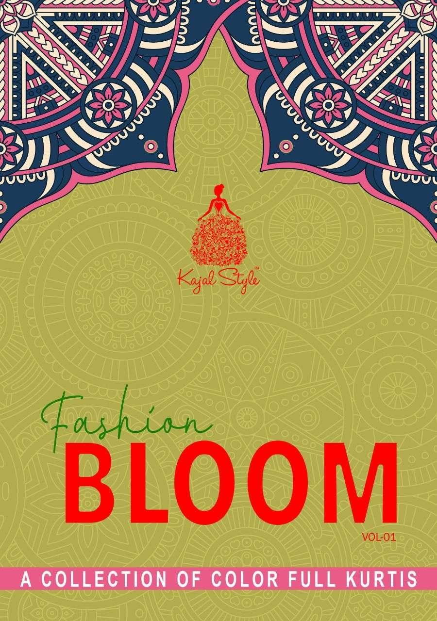 Kajal Style Fashion Bloom Vol 1 Rayon Embroidery Work Kurti with palazzo Collection