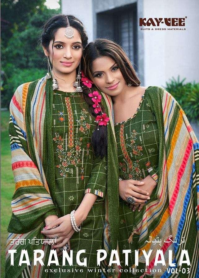 Kay vee Suits Tarang Patiyala Pashmina Digital Print With Work Winter Suits