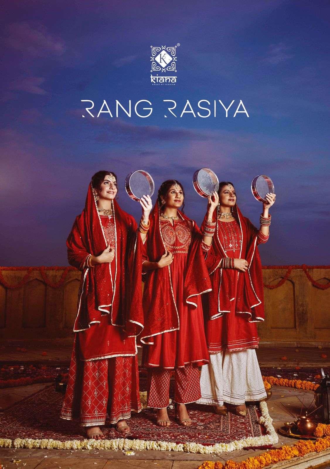 Kiana Rang Rasiya Muslin With Embroidery Work Karva chauth Collection