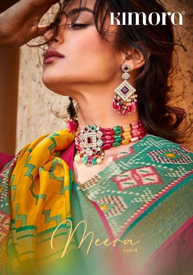 Kimora meera vol 4 brasso fancy party wear saree collection
