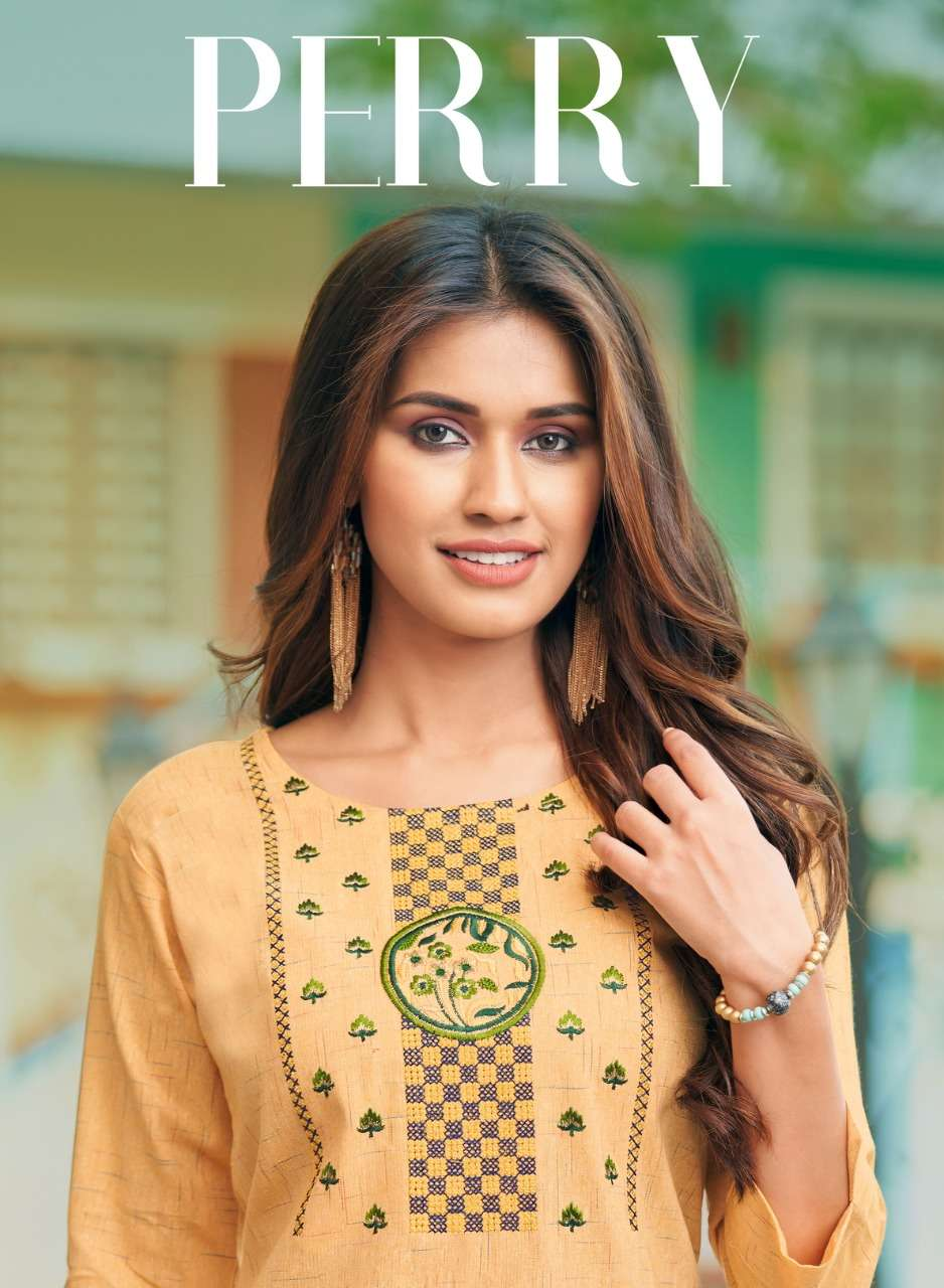 Panghat Nx Perry cotton with embroidery work kurti collection
