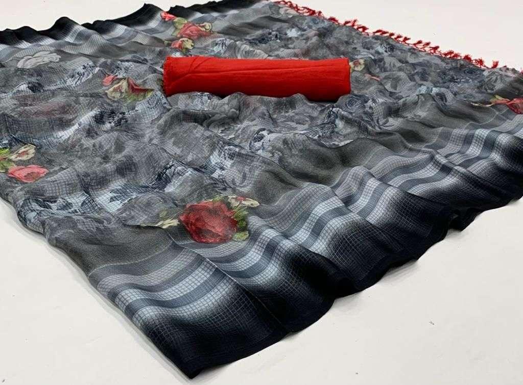 Phoolwari Barasso with digital print regular wear saree collection