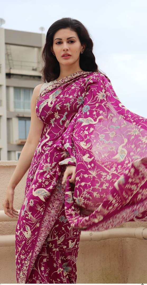 Ps 109 Moss with digital print saree collection