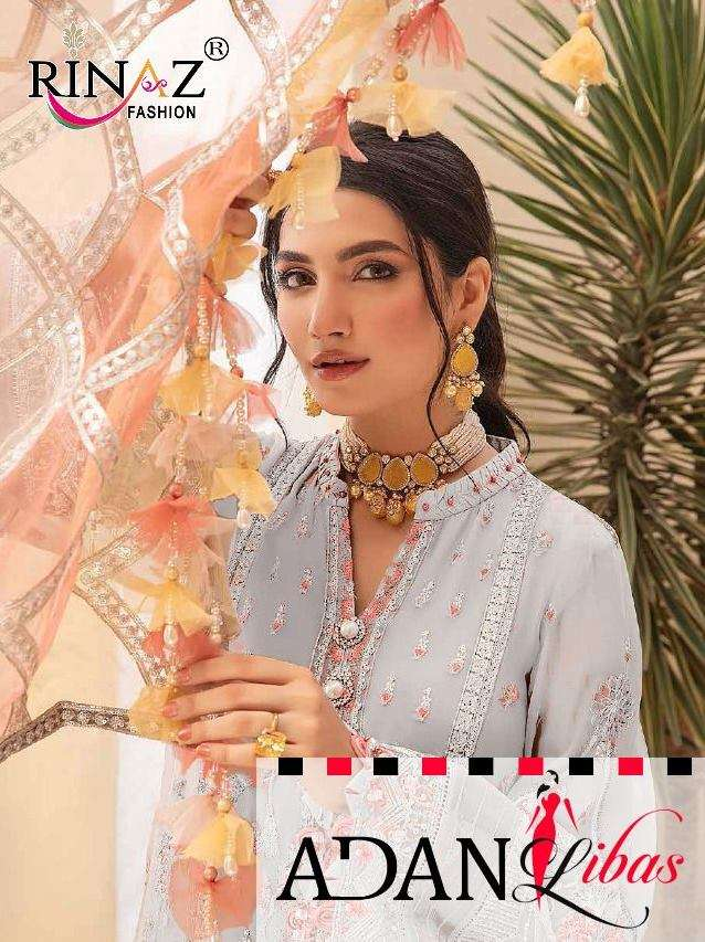 Rinaz Fashion Adan Libas Vol 7 Faux Georgette With Embroidery Work Pakistani Suits Collection
