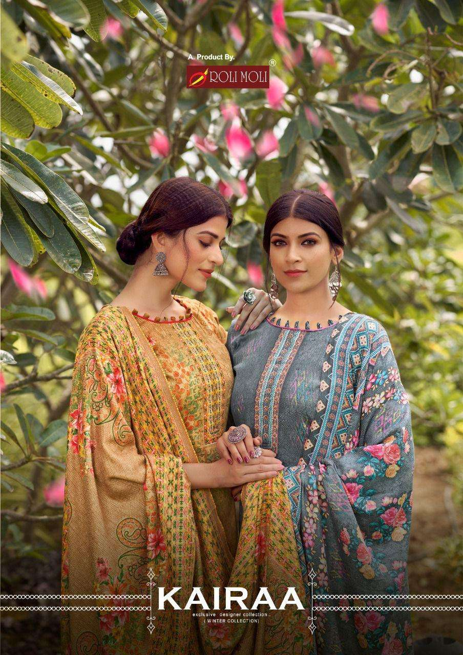 Roli Moli Kairaa Pashmina With Work Dress Material Collection