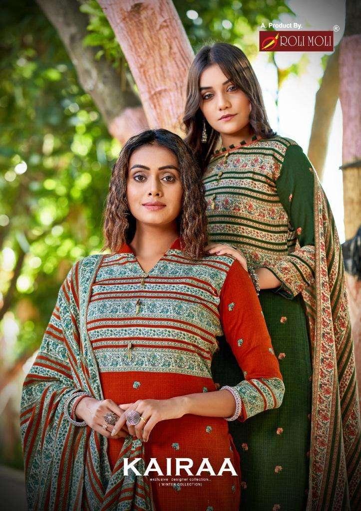 Roli Moli Kairaa Pashmina With Work Winter Suits Collection