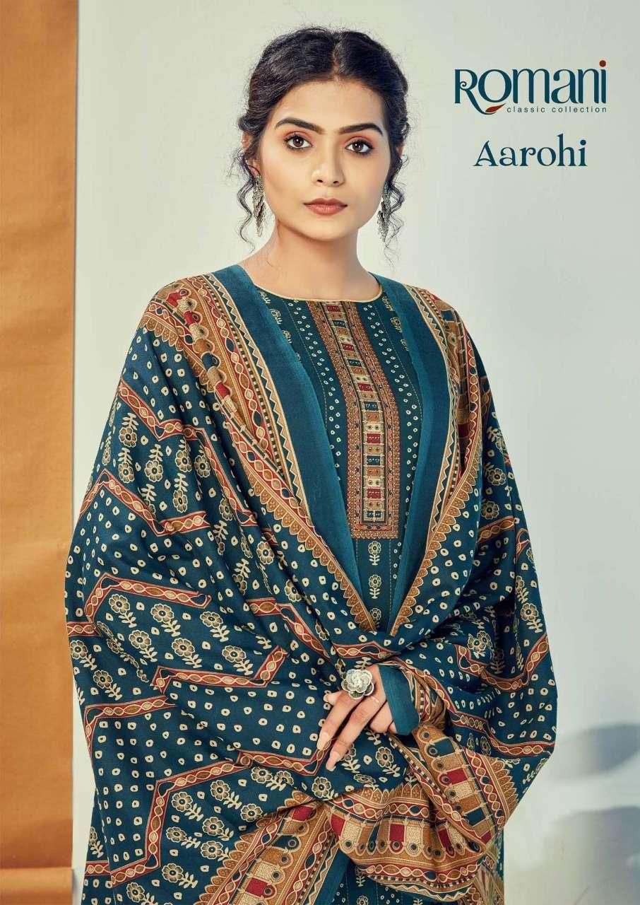 Romani Aarohi Spun Digital Print With Work Dress Material Collection