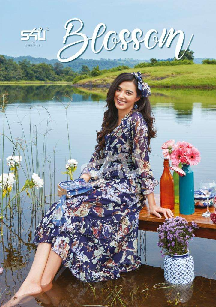 S4u Blossom Vol 2 Chiffon Printed western kurtis Collection