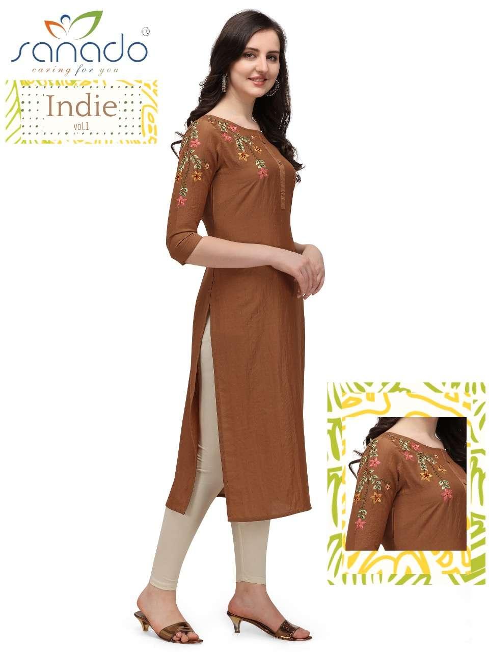 Sanado Indie chinon Butti Casual Kurtis collection