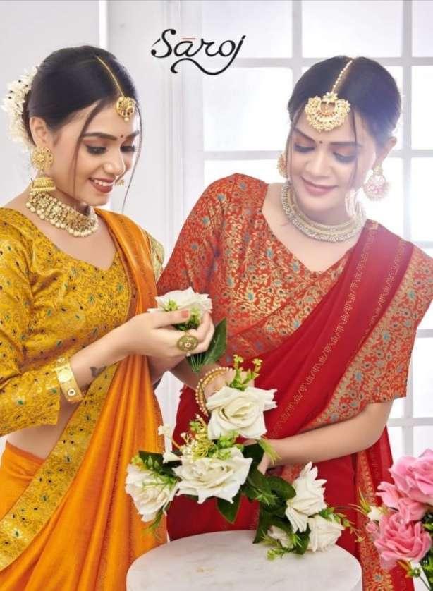 Saroj veronica vichitra silk saree collection