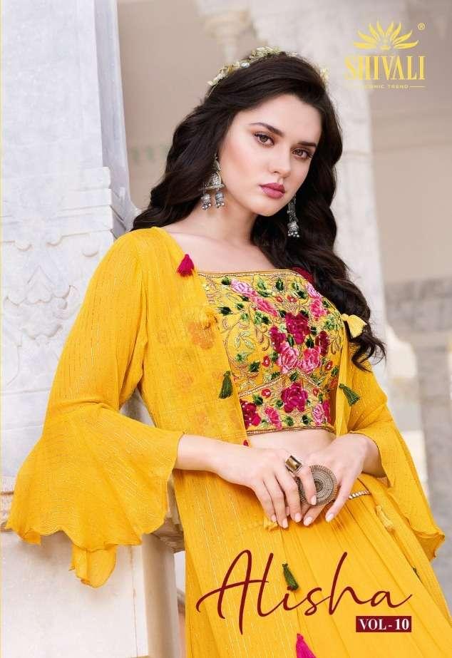 Shivali fashion Alisha Vol 10 Fancy Designer Indo Western Collection