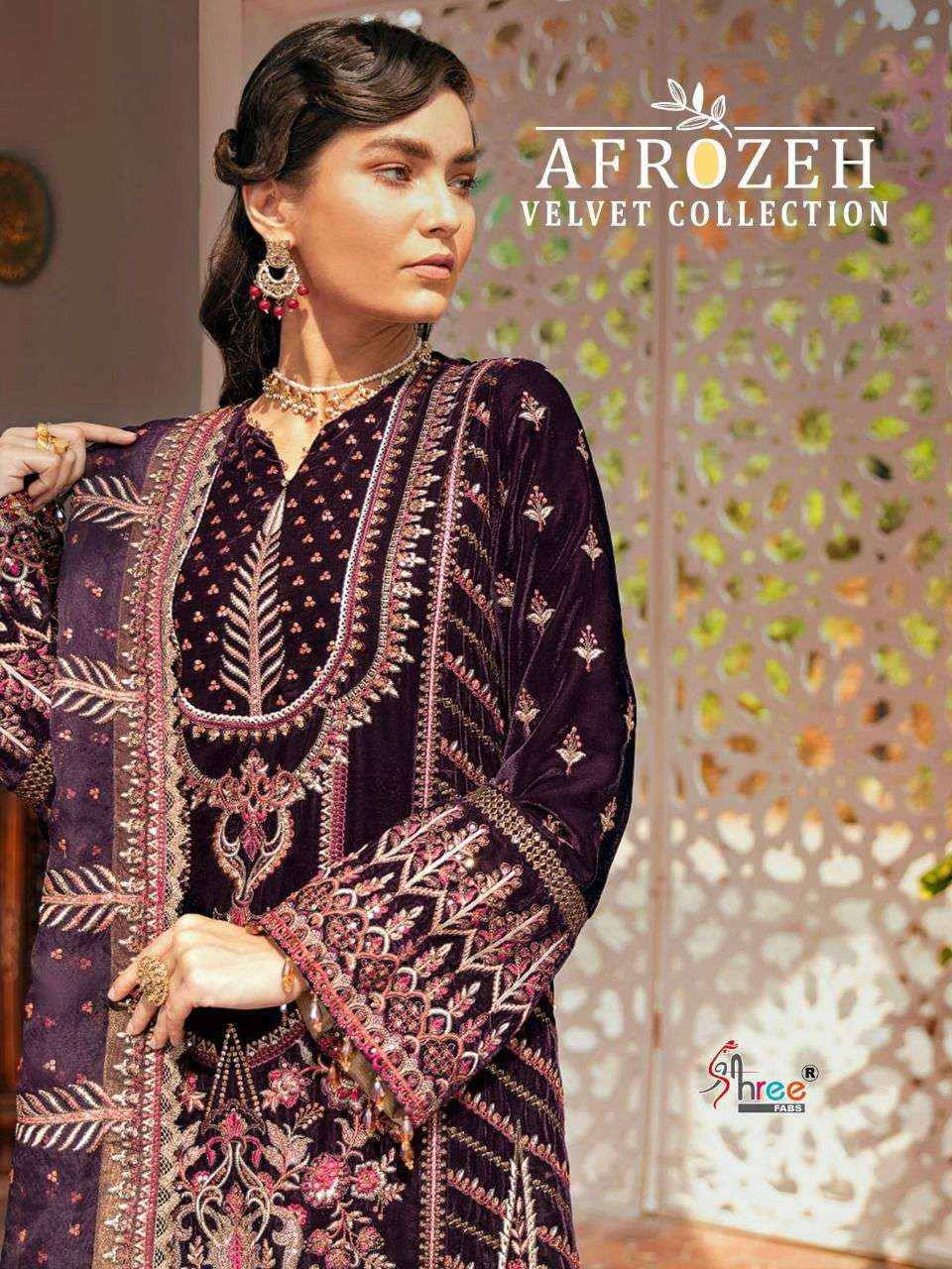 shree Fab Afrozeh Velvet collection Pakistani Pashmina suits Collection