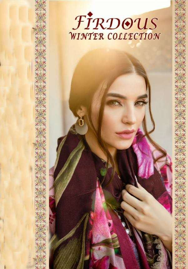 Shree Fab Firdous Winter Collection Pashmina Print With Embroidery Work Pakistani Winter Suits Collection