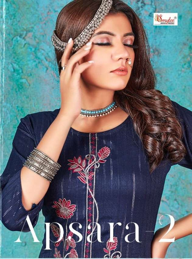 Smylee apsara vol 2 rayon with embroidery work kurti collection